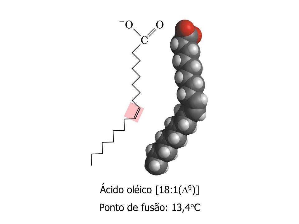 Ácido oléico [18:1(9)] Ponto de fusão: 13,4C